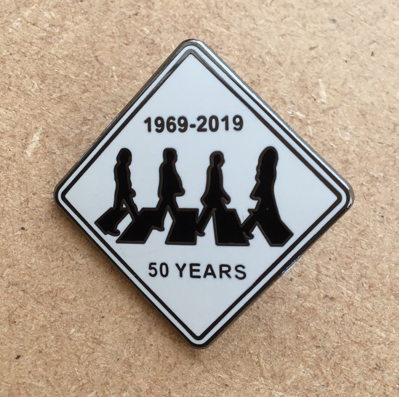 50 Years Of Fab Images: 50 YEARS OF ABBEY RD ENAMEL PIN BADGE