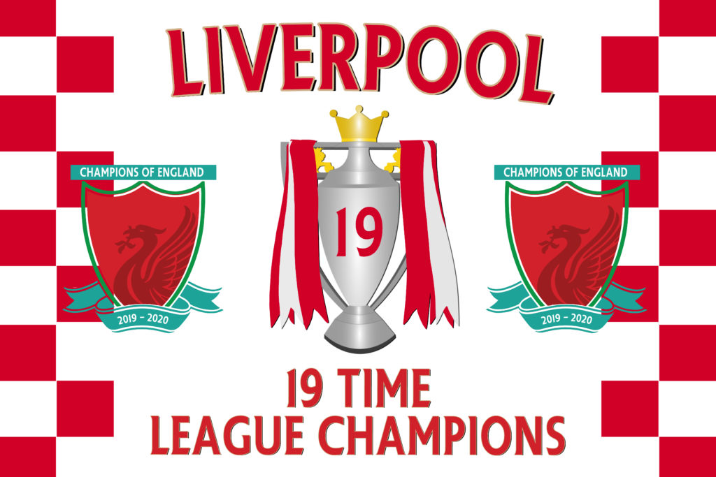 Liverpool 19 Times League Champions 2019/20 Winners ...